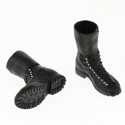 """1//6 Male Solid Boots Falcon Combat Shoes Model Black for 12/""""Action Figure Body"""
