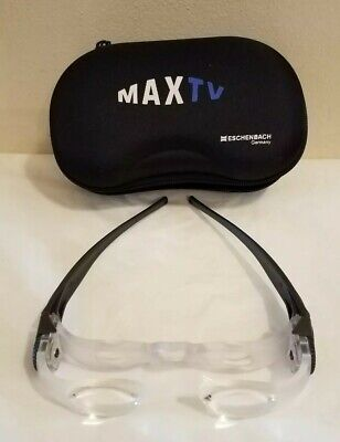 ESCHENBACH Max TV 2.1x Adjustable Magnification Glasses w/Case, Made in Germany