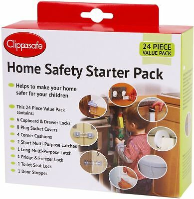 Clippasafe HOME SAFETY UK STARTER PACK (22 PACK) Baby Toddler Childproofing BNIB