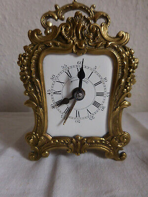 pendulette pendule  repetition sonne heures-demi heure carriage clock striking