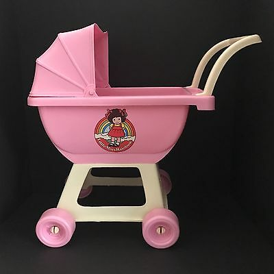 Vintage Pink Pram Doll Carriage Stroller Buggy 18 Little Miss Rainbow Gay Toys
