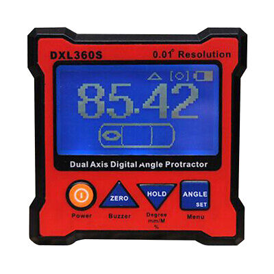 Digital Level - DXL360S Dual Axis Angle Protractor with 5 Side Magnetic Base