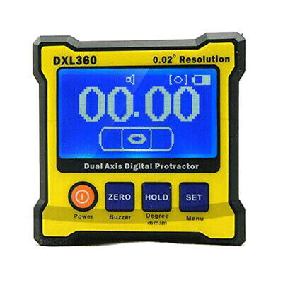 DXL360 Dual Axis Digital Angle Protractor Inclinometer Meter 5 Side Magnetic