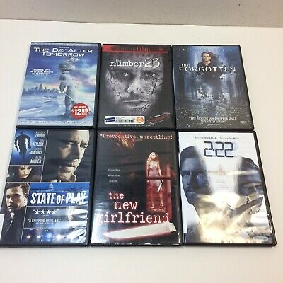 Lot of 6‼ Thriller Suspense Movie DVDs •2:22 New Girlfriend Day After Tomorrow +