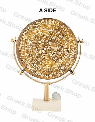 PHAISTOS DISK FESTOS Museum Replica Minoan Palace 1700 BC Greek Ancient Souvenir