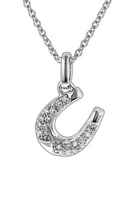 Trendor Jewellery Silver Necklace with Horseshoe for Children