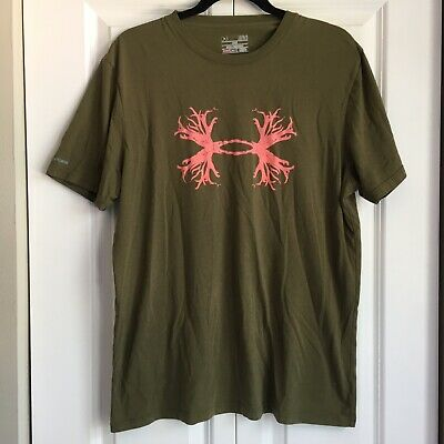 ad1a7a8ff Men's Under Armour Hunt Antler Logo Charged Cotton Graphic T-Shirt - L