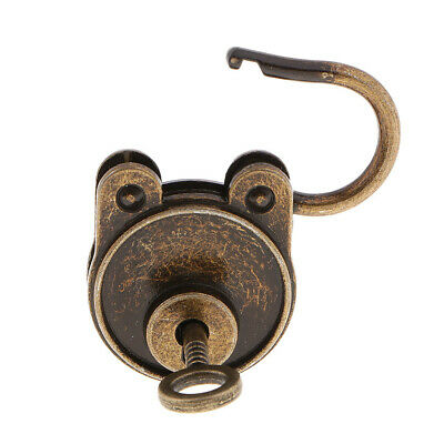 1Pcs Old Vintage Antique Style Mini Padlocks Key Lock Bronze