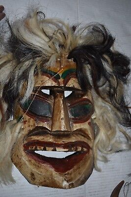 "Orig $399.Old Guatamalan Shaman Mask 15"" Provenance"