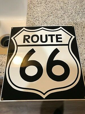 Vintage Porcelain Advertising Sign Route 66 Ande Rooney