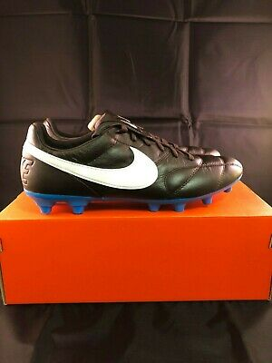 c85c34dd7d6f9 THE NIKE PREMIER II FG Men's Soccer Cleats 917803-214 Black and Blue