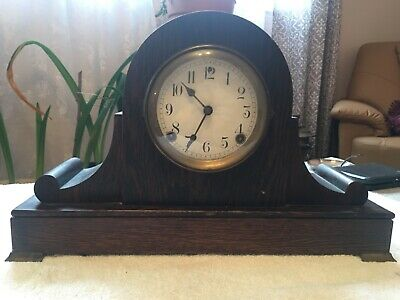 Antique Sessions Wooden Clock 8 Day Half-Hour Strike