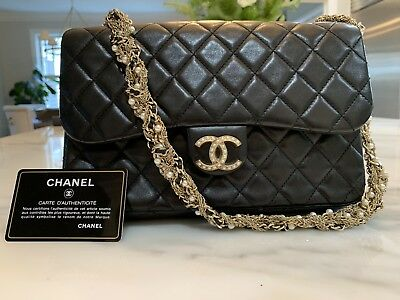 e3a930d8a15ef9 Auth Chanel Classic Flap Limited Edition Westminster Pearl Black Lambskin