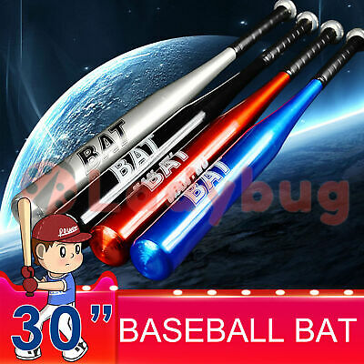 "30"" 76cm Aluminum Metal Baseball Bat Racket Softball Outdoor Sports Defense"