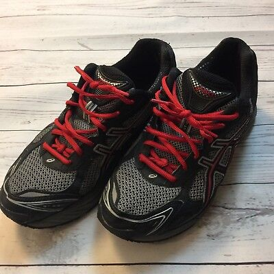 Asics Cross Training Gym Workout Running Shoes Black Red Mens 2011N Width 2E