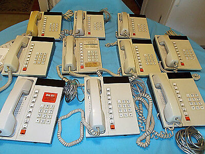 Lot of 11 Telecom telephone System 35 years old 10 lines With Manual Business