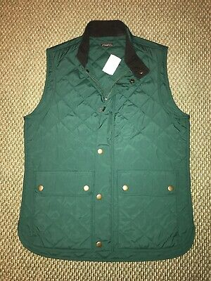 NWT $198 J McLaughlin Green Quilted Vest - Size Medium