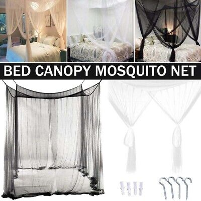 Foldable Four Corner Post Bed Canopy Mosquito Net Square Insect Bed Net Bedding  sc 1 st  PicClick & FOLDABLE FOUR CORNER Post Bed Canopy Mosquito Net Square Insect Bed ...