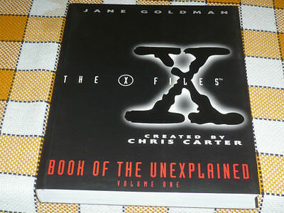 X FILES Book of the unexplained #1 GREAT rare English J. Goldman OOP