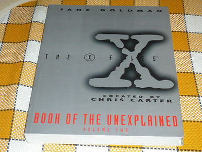 X FILES Book of the unexplained #2 GREAT rare English J. Goldman OOP