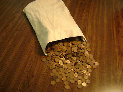 400 LINCOLN WHEAT CENTS, 10's THROUGH 50's >UNSEARCHED< US COIN COLLECTION LOT