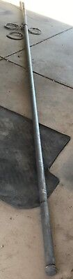 """Wind Turbine Pole 6 Meters 2.4"""" 3x Guide Lines 7 Meters Cable D Shackles End Cap"""