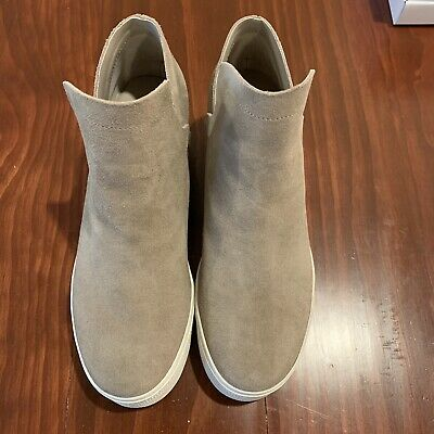 2d08c205e1a STEVE MADDEN WOMEN'S Wrangle Wedge Sneaker Taupe Suede NEW IN BOX Size 7.0 M