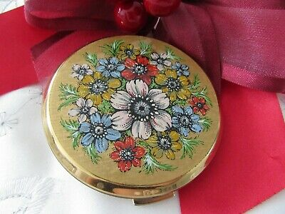 Stunning Collectable, Stratton , Floral Powder Compact
