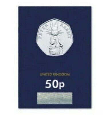 PETER RABBIT 2019 50p Pence Coin In Hand Ready To Post BUNC