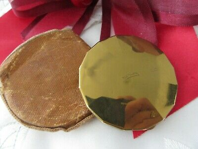 Stunning Collectable, Very Old,gold Tone Yardley Blusher Compact & Pouch