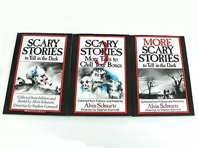 Scary Stories to Tell in the Dark 3 Book Set Childrens Alvin Schwartz Movie Gift