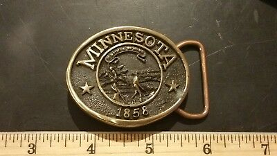 Minnesota 1858 Twin City Federal S&L Solid BRONZE Belt Buckle