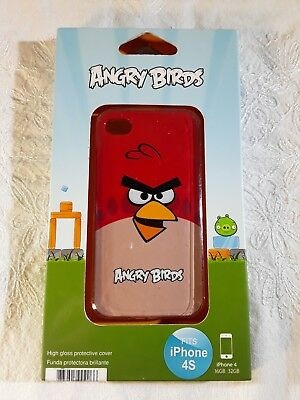 Angry Birds Cell Phone Cover  iPhone 4 and 4S Red Bird