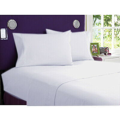 1000 Thread Count 100% Egyptian Cotton Queen White Solid 4pcs Sheet Set