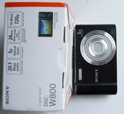 Sony Cyber-shot DSC-W800 20.1MP 720P Black Digital Camera w/ Box