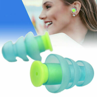 2pc Noise Cancelling Ear Plugs for Sleeping Concert Soft Plush Silicone Earplugs