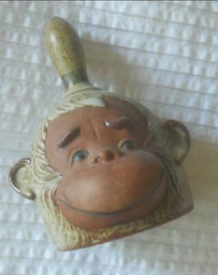 Fabulous Vintage Gempo Pottery Monkey Face Bell
