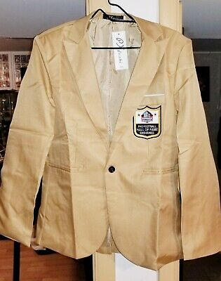quality design 84a60 eaec0 PRO FOOTBALL HALL of Fame Gold Jacket Coat for Autograph Signed Blazer  Patch WOW
