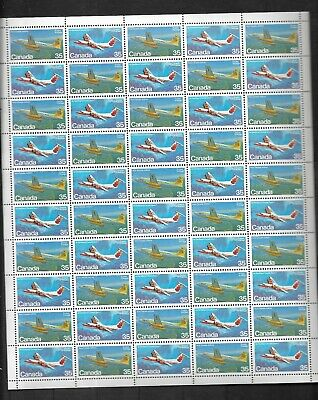 pk42555:Stamps-Canada #905-906 Canadian Aircraft 50 x 35 cent Sheet - MNH