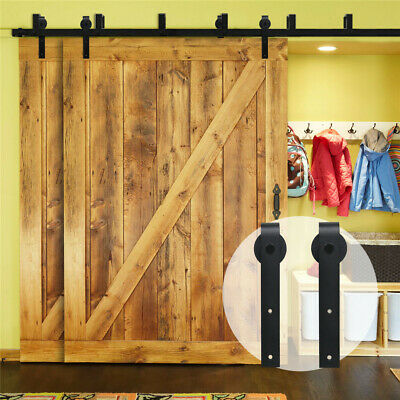 4-20FT Sliding Barn Door Hardware Track for Wood Single/Double/Bypass Doors J