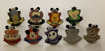 Disney Hidden Mickey Crest Chasers Lot Of 9 Disney Pins