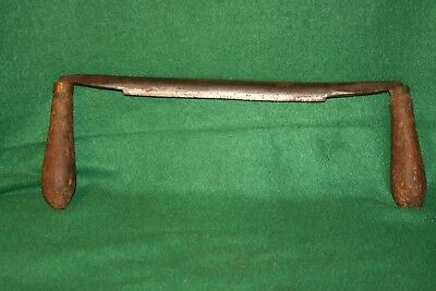 """Antique 9"""" Blade Draw Knife Carpenters Shave Woodworking Tool Inv#VD48"""