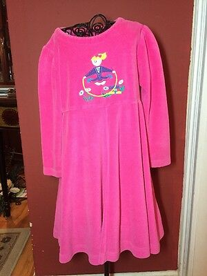 Fast Friends Boutique Girls Sz. 4 Hot Pink Velour Girl Jumping Rope Dress