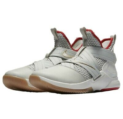 new concept 4dbe5 414b3 NIKE LEBRON SOLDIER XII SFG 12 Flyease Mens Size 11 Off White Red Basketball