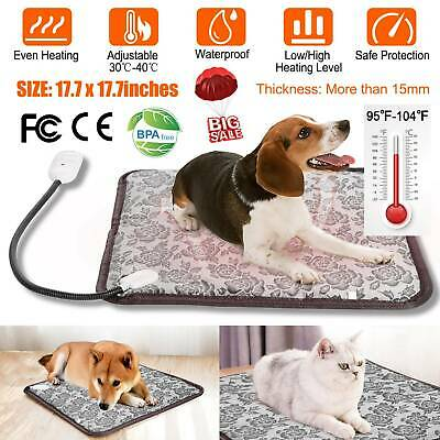 Waterproof Electric Pet Heated Pad Puppy Dog Cat Warmer Heating Mat Cushion Bed