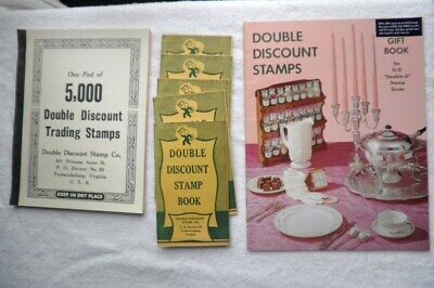 Double Discount Trading Stamp Catalog~Pad Of 5000 Stamps~ 5 Redemption Books
