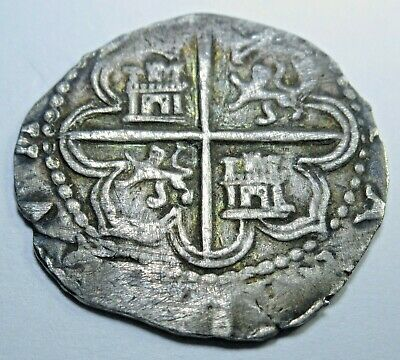 1500s Spanish 1 Reales Cob Piece of 8 Real Shipwreck? Old Pirate Treasure Coin