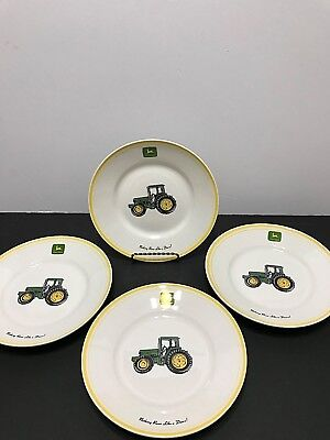 John Deere Salad Plates by Gibson Set of Four