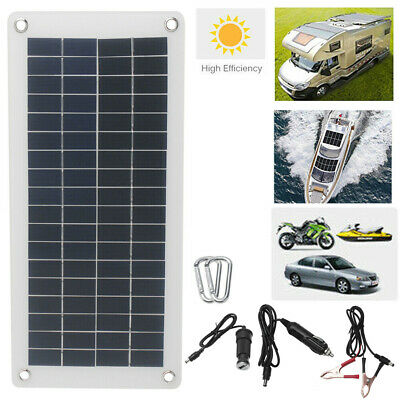 18V 10.5W Portable Solar Panel Power Battery Charger Backup For Car Boat Auto