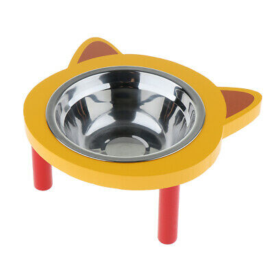 Elevated Raised Dog Cat Pet Feeder Bowls - Raised Stand Feed Station Tray